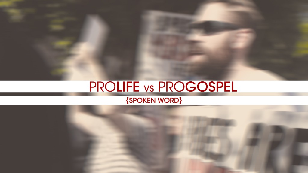Amazing pro-life, Gospel centered spoken word video!